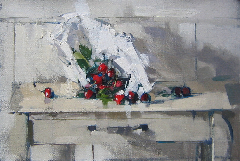 Cherries in White Bag